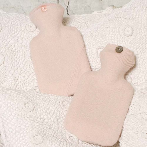 Baby Pink 100% Cashmere Hot Water Bottle Cover