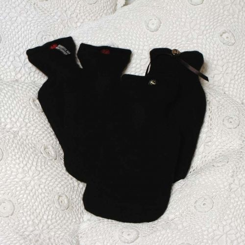 Black 100% Cashmere Hotwater Bottle Cover