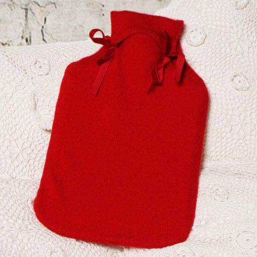 Rich Red Cashmere Hot Water Bottle Cover