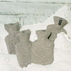 Lovely Soft Silver Grey Cashmere Hot Water Bottle Cover
