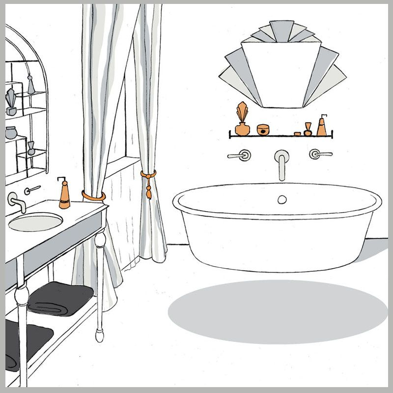 Line Art Bathroom : Bathrooms roberta may interiors