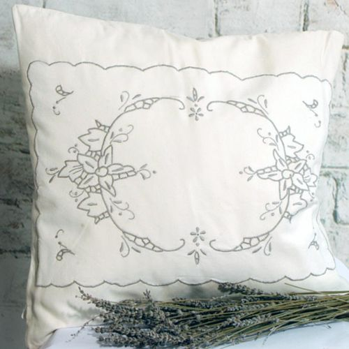 Cutwork Lace Cushion