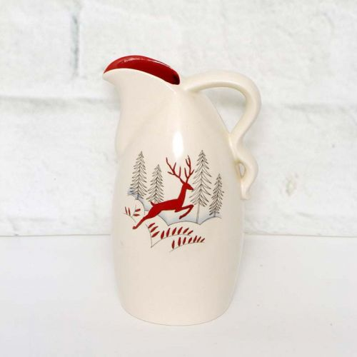 Crown Devon Jug with Leaping Stag