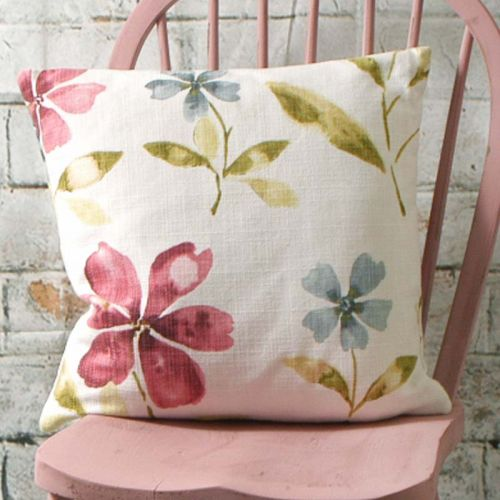 Handmade 100% Cotton Cushion with a Flower Print