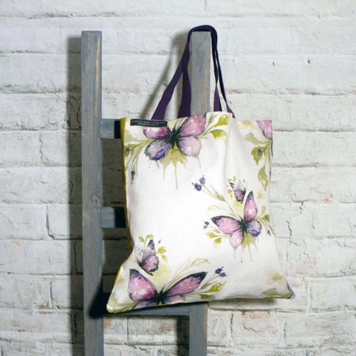 Mauve Coloured Butterfly Shopping Bag