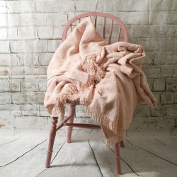 Luxury Pink Chenille Throw