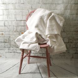 Beautiful White Cotton Double Bed Throw